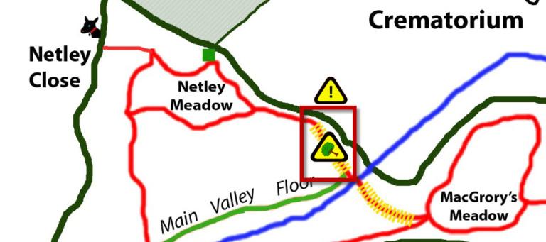 Closed Footpath Map